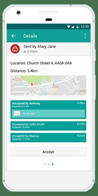 Stiller Alarm Mobile App Active Alarm Step 5