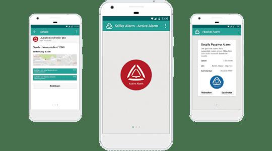 Stiller Alarm three Phones Mobile App