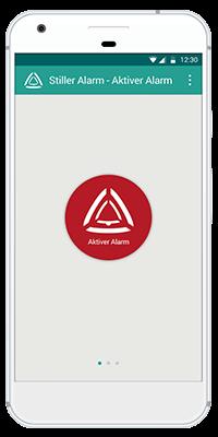 Stiller Alarm Mobile App - Aktiver Alarm - Schritt 2: Lösen Sie den Alarm mit nur einem Klick aus.